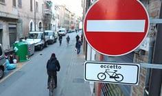 bicicletta, doppio senso ciclabile