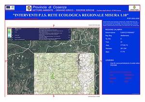 Cartografia boschi e laghi di Fagnano