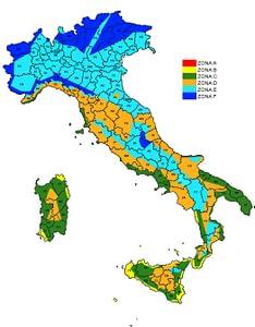 salvaguardare l'ambiente - Mappa zone climatiche italiane
