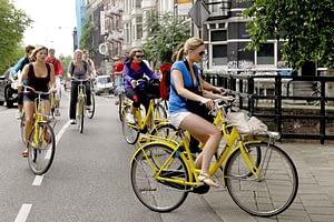 in bici Amsterdam