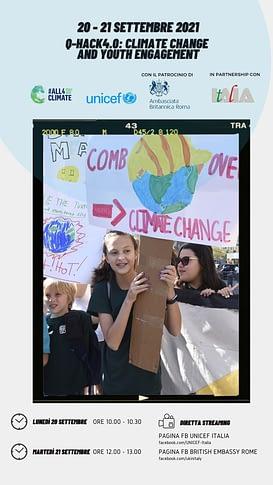 hackathon su cambiamento climatico e giovani