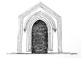 Federico - Castel del Monte Portale di ingresso sala del piano terra, dal cortile interno ottagonale