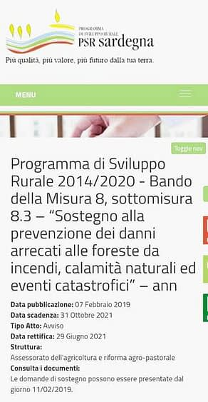 Sardegna, incendi boschivi e bandi europei