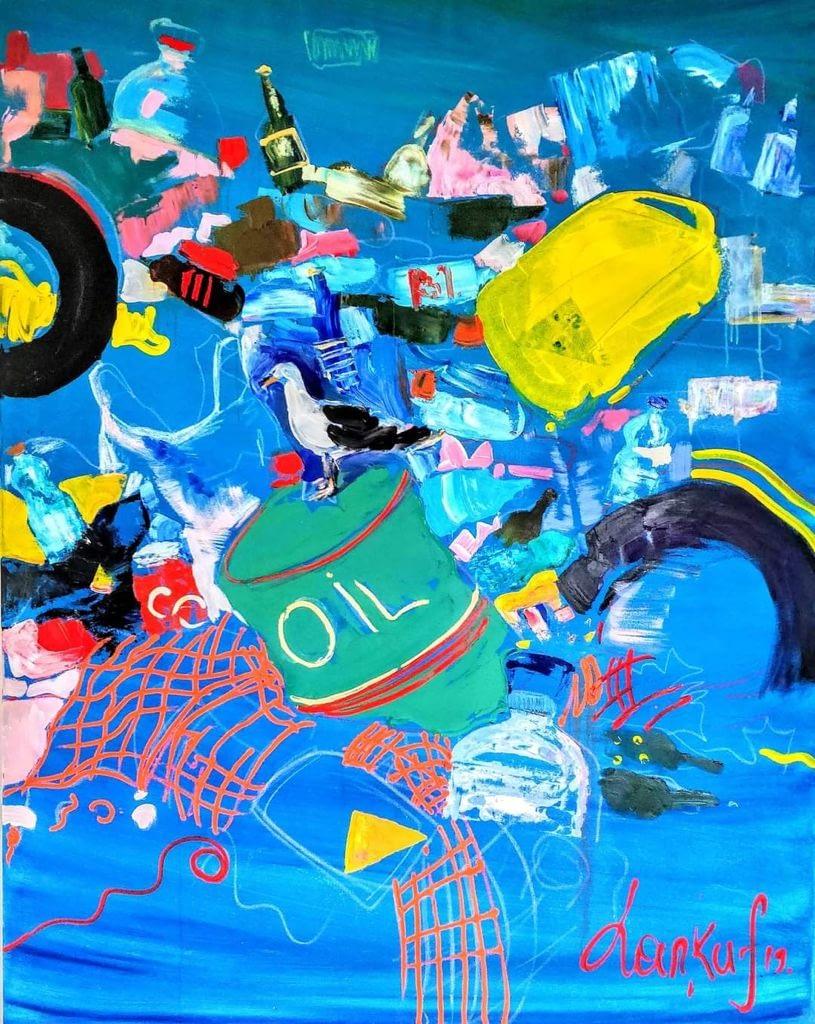 L'inquinamento nei mari - disegno