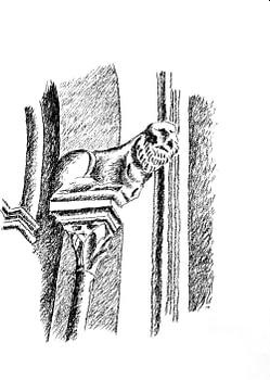 natura - Castel del Monte: capitello con la tigre