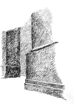 Castel del Monte: basi di fondazione delle torri