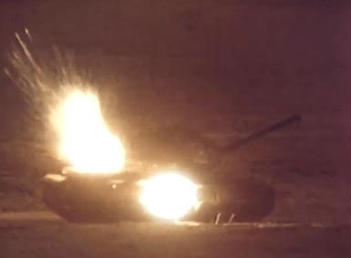 Esplosione carro armato