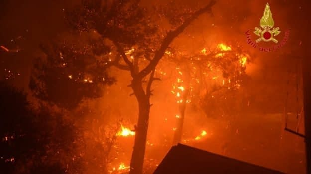 Incendio riserva dello zingaro