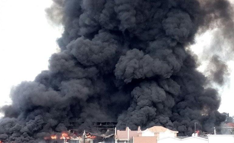 EcoX incendio Pomezia