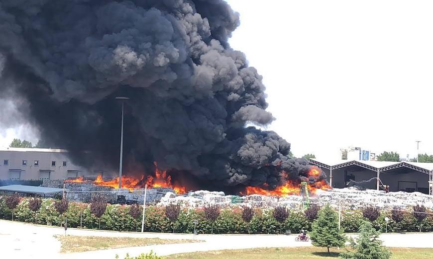 Incendio Caivano