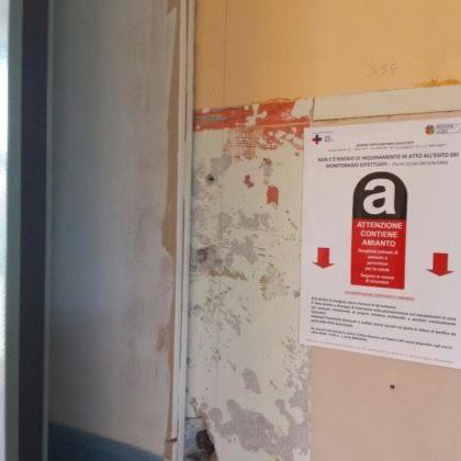 Ospedale Rieti con amianto
