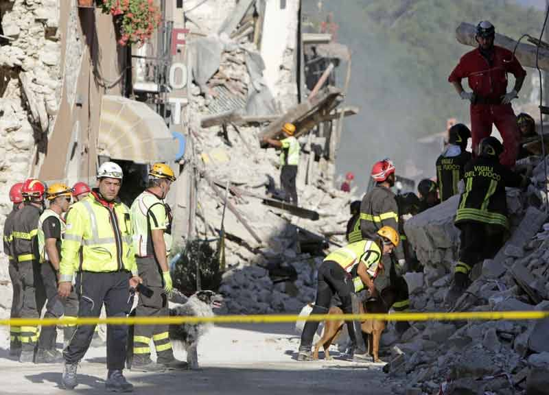 Terremoto amianto macerie